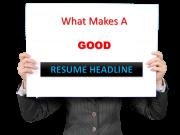 resume headline for fresher