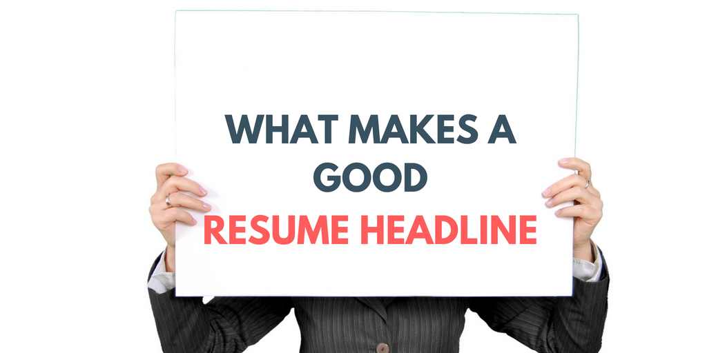 Resume Headline For Fresher Resume Headline Examples