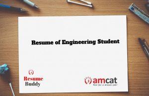 resume of engineering student