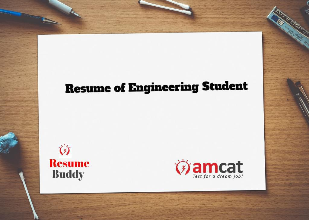 how should a resume of engineering student look like