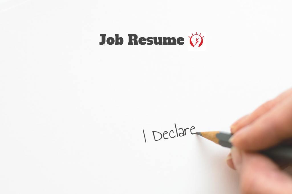 resume declaration