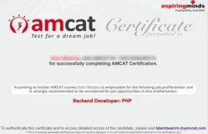 amcat certificates