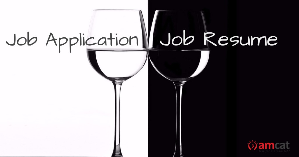 differences between a job application and resume