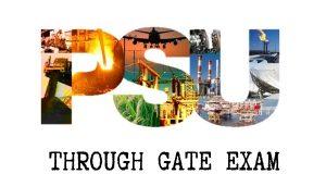 PSUs through GATE exam