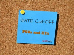 GATE cut-off for IITs and PSUs