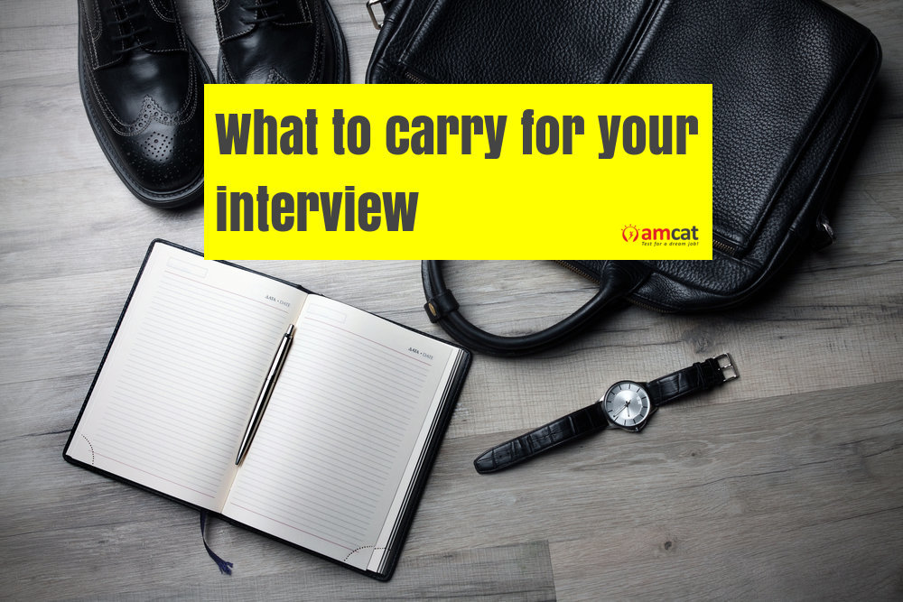 things to carry to your job interview