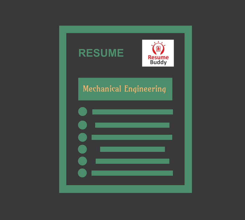 resume for mechanical engineering