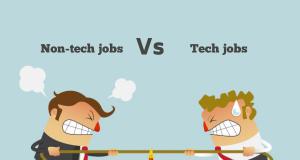 Non-tech jobs Vs tech jobs - who will win?