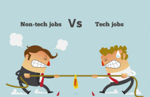 Non-tech jobs Vs tech jobs - who will win?