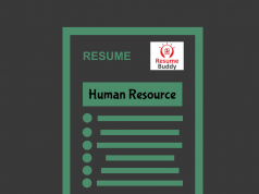 resume format for HR jobs
