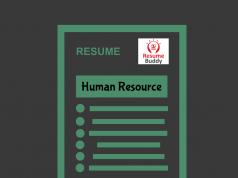 resume format for HR jobs