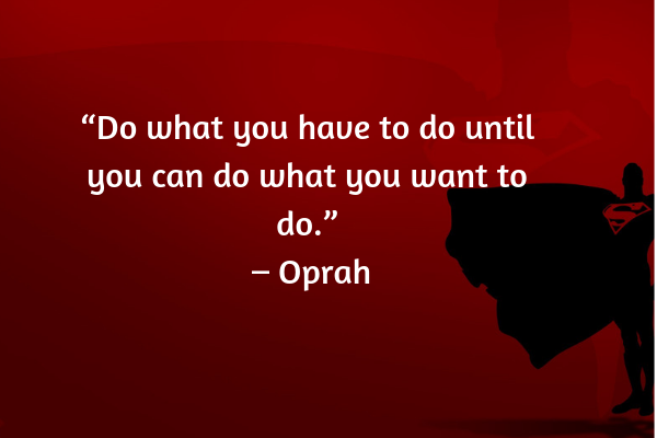 Career advice from Oprah