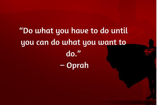 Career advice from Oprah