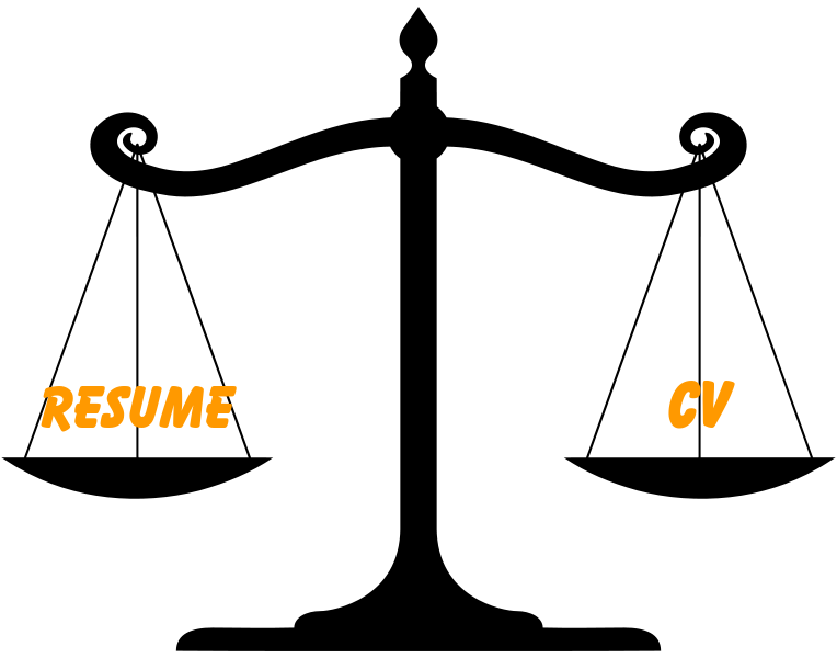 Key differences between a job resume and a CV