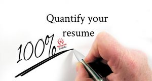 add numbers to your job resume