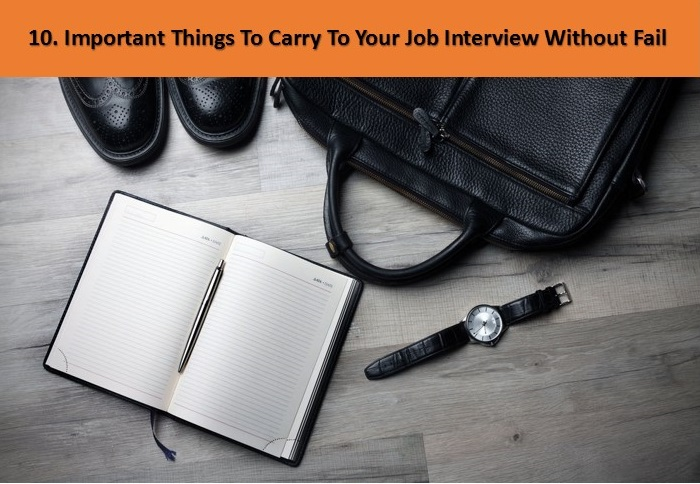 things to carry to job interview