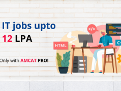Apply for top IT jobs with AMCAT PRO