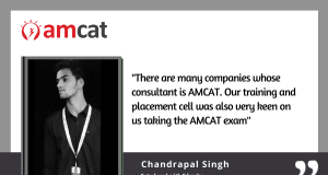 AMCAT exam testimonial