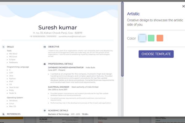 Create an eye-catching resume