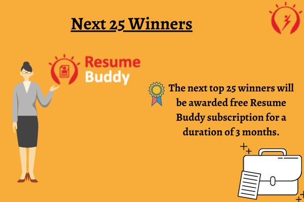 Next 25 Winners Reward
