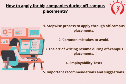 How to apply for big companies during off campus placements