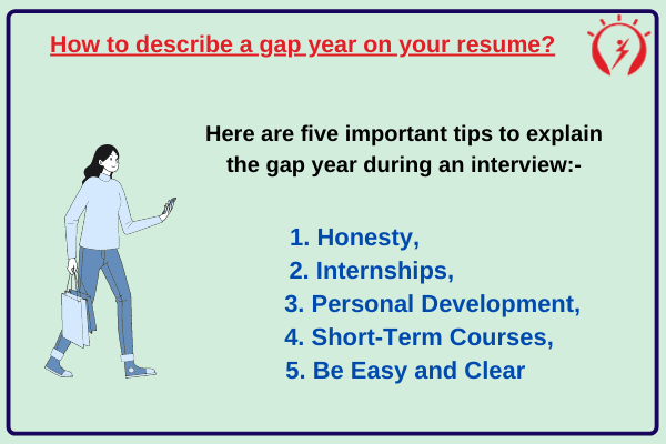 How to describe a gap year on your resume?