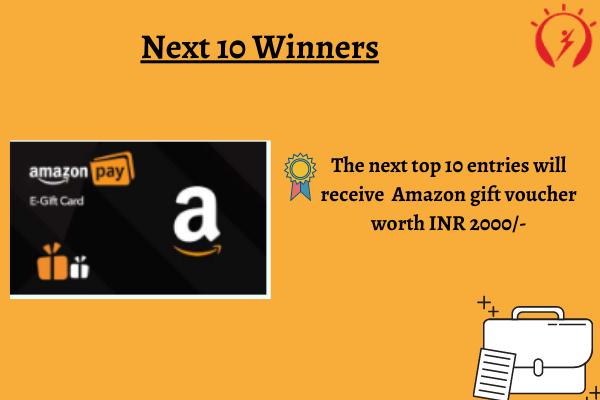 Next ten winners reward