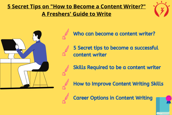 """How to Become a Content Writer?"" A Freshers' Guide to Write"