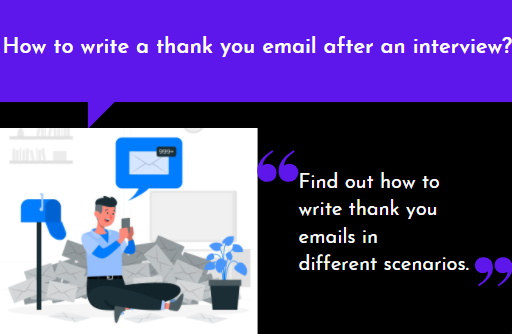 How to write a thank you email after an interview?