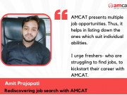 Discovering Job Options Through AMCAT- Success Story by Amit Prajapati