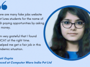 Krati Gupta Placed at Computer ware India Pvt Ltd