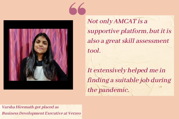 Varsha Hiremath got placed as<br /> Business Development Executive at Verzeo