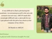 Vishal Kumar placed at Glorious Insight Pvt Ltd.
